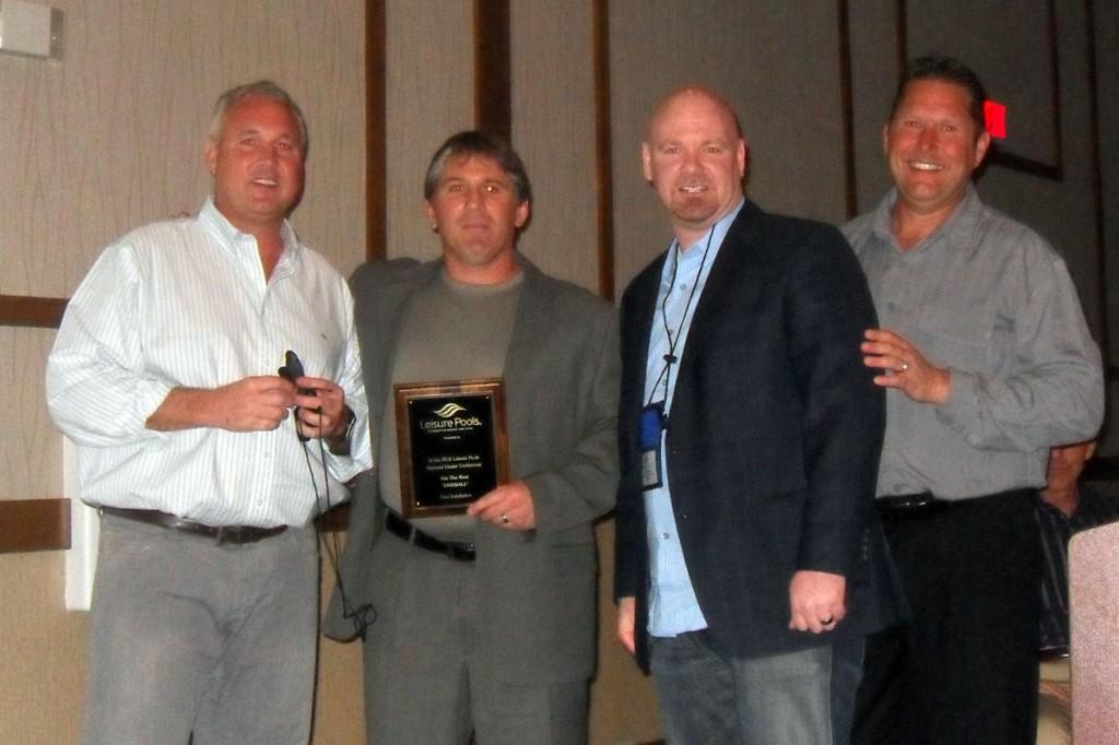 Signature Pools - Leisure Pools Dealer Awards 2010