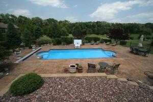 Signature Pools - 39' x 16' fiberglass pool built in Yorkville, IL