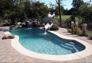 Signature Pools 40' x 16' fiberglass pool in Batavia, Illinois