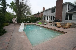 Signature Pools - 40' x 16' Fiberglass Pool in Clarendon Hills, Illinois