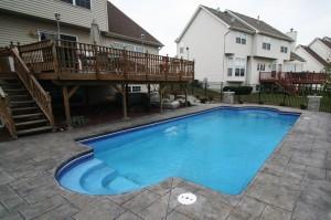 Signature Pools 39' x 16' Fiberglass Pool in Plainfield, Illinois