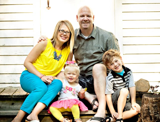 Todd, Sara, Lincoln, and Lila Emmerson - 2012