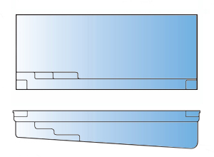 Reflection Model Pool Line Drawing - Leisure Pools