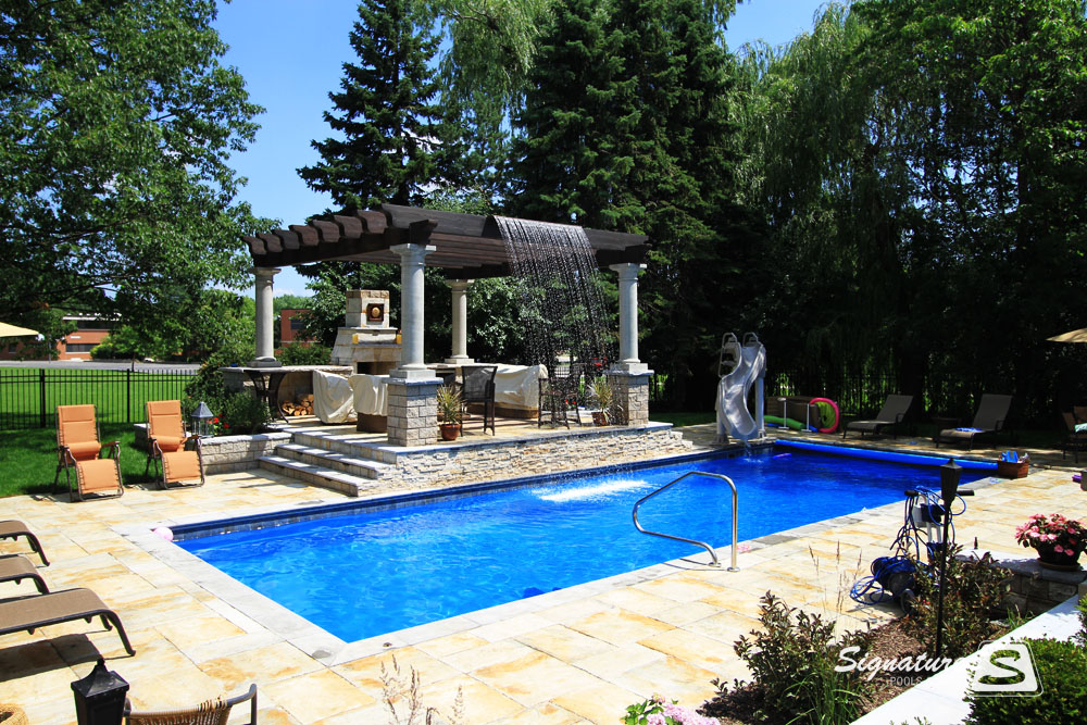 Fiberglass Swimming Pool Picture Gallery By Signature Pools Signature Fiberglass Pools Chicago
