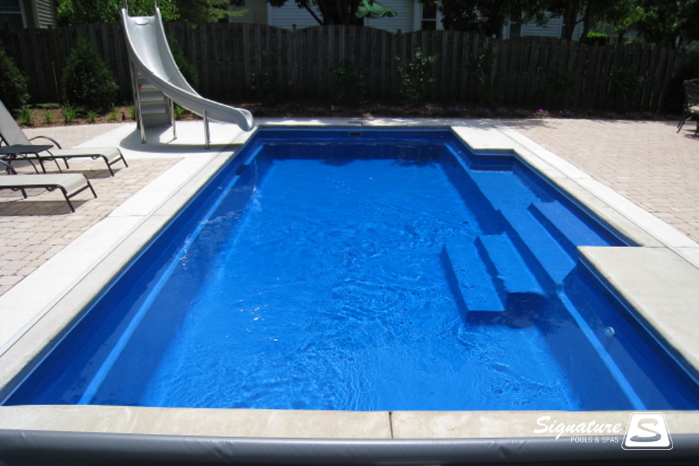 Gallery Of Inground Fiberglass Pool Pictures Signature