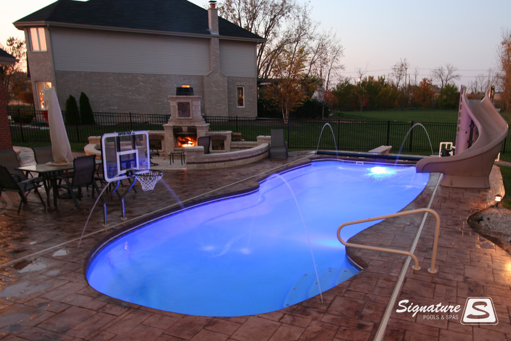 fiberglass pool picture gallery signature fiberglass pools chicago swimming pool builder illinois