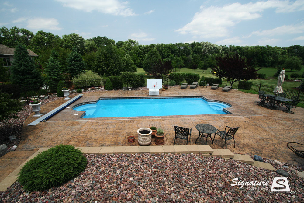 Inground Fiberglass Pool Picture Gallery From Signature