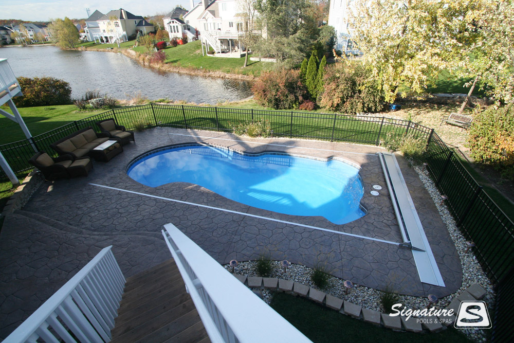 Inground Fiberglass Pool Picture Gallery From Signature Pools Signature Fiberglass Pools