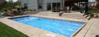 Fiberglass Pool (33' x 15') in Oswego, IL