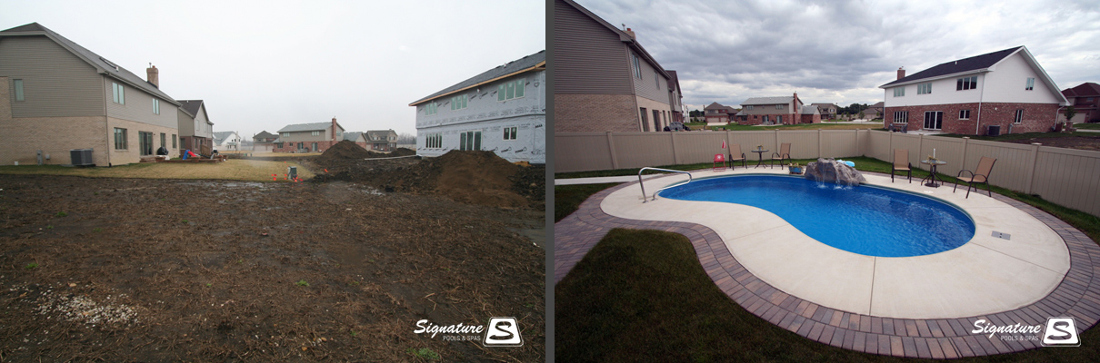 Before And After Pictures Of Fiberglass Pools Signature Fiberglass Pools Chicago Swimming Pool