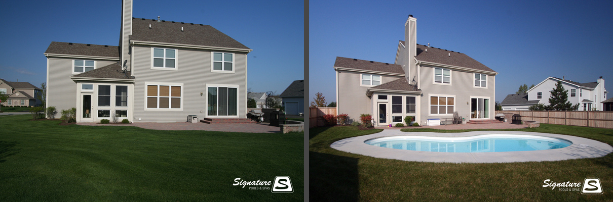 Before And After Pictures Of Fiberglass Pools Signature