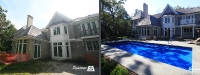 Before & After Picture of a Fiberglass Pool in Lake Forest, IL