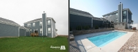 Before & After Picture of a Fiberglass Pool in Sugar Grove, IL