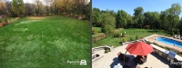 Before & After Picture of a Fiberglass Pool in Downers Grove, IL