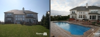 Before & After Picture of a Fiberglass Pool in Algonquin, IL