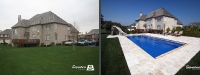 Before & After Picture of a Fiberglass Pool in Long Grove, IL