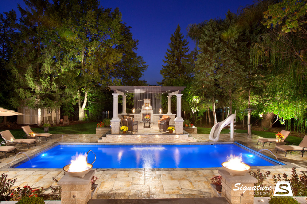Grand Elegance Model Pool Signature Fiberglass Pools