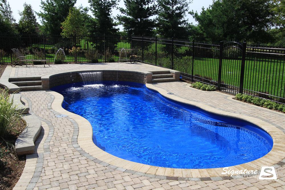 Leisure Pools Riviera Style Fiberglass Pool | Signature ...