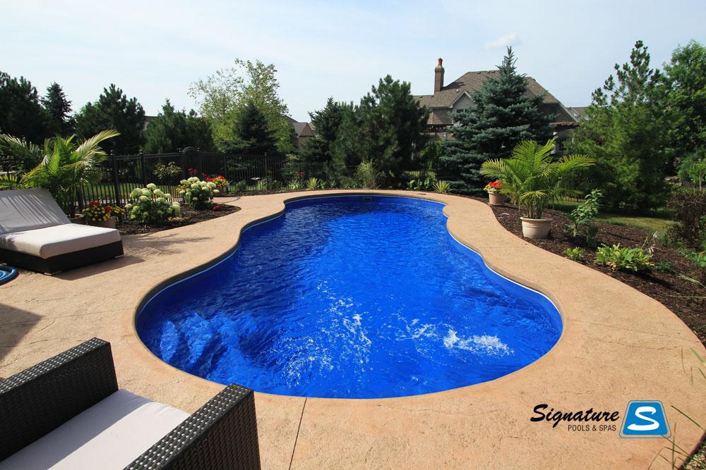 Riviera Pool leisure pools riviera style fiberglass pool signature fiberglass