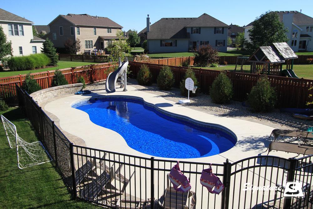 Leisure pools riviera style fiberglass pool signature - Riviera fiberglass pools ...