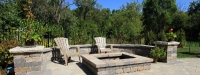 Outdoor Fire Pit and Seatwall in Downers Grove, IL