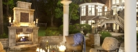 Outdoor Fireplace and Pergola in St. Charles, IL