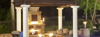 Outdoor Pergola and Fireplace in St. Charles, IL