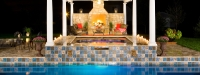Outdoor Pergola and Fireplace in Yorkville, IL