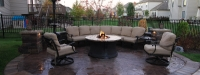 Outdoor Fire Pit and Seat Wall in Plainfield, IL