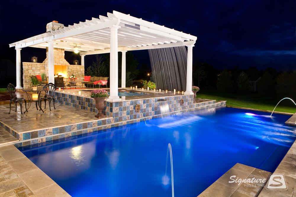 Leisure Pools Elegance Model Pool Signature Fiberglass