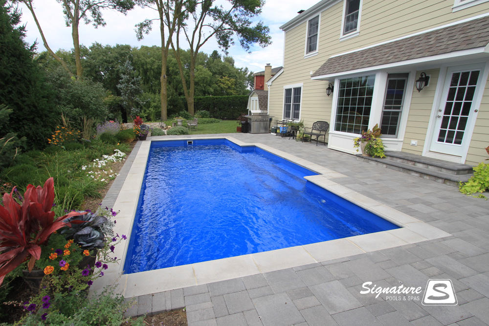 Leisure Pools Elegance Model Pool Signature Fiberglass