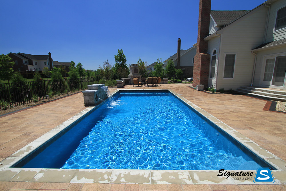 Cassini Model Pool From Trilogy Pools Signature Fiberglass Pools Chicago Swimming Pool Builder