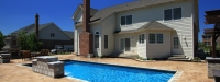 Cassini Model Fiberglass Pool with Water Feature in South Barrington, IL