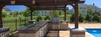 Outdoor Kitchen, Pergola, and Pool in South Barrington IL