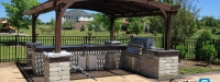 Outdoor Kitchen and Pergola in South Barrington, IL