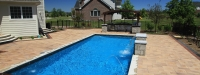Cassini Model Rectangle Pool with Automatic Pool Cover in South Barrington, IL