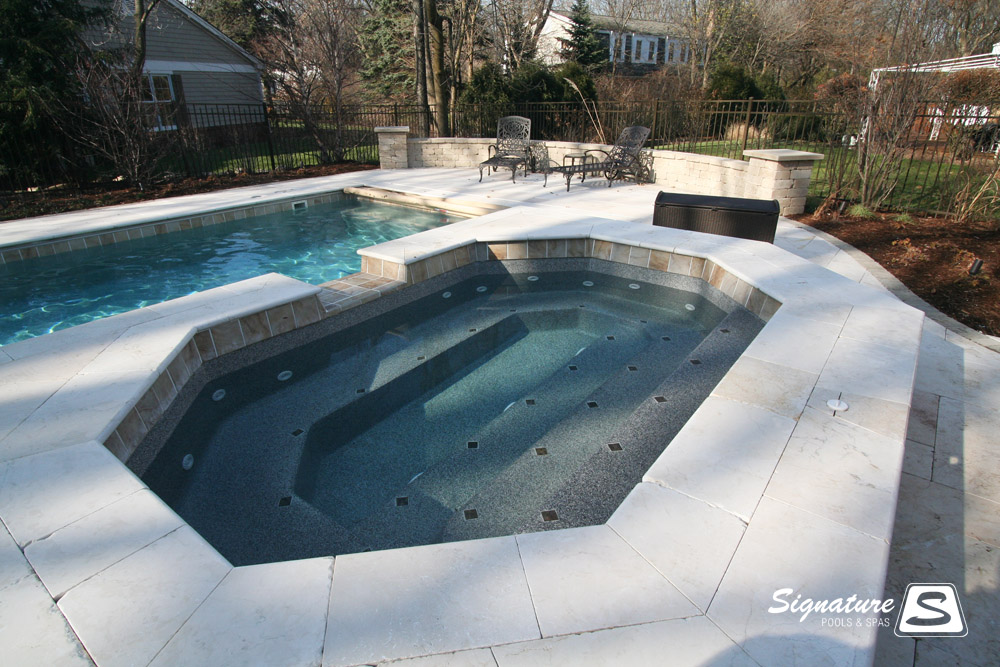 Spa Gallery Signature Fiberglass Pools Chicago Swimming Pool Builder Illinois