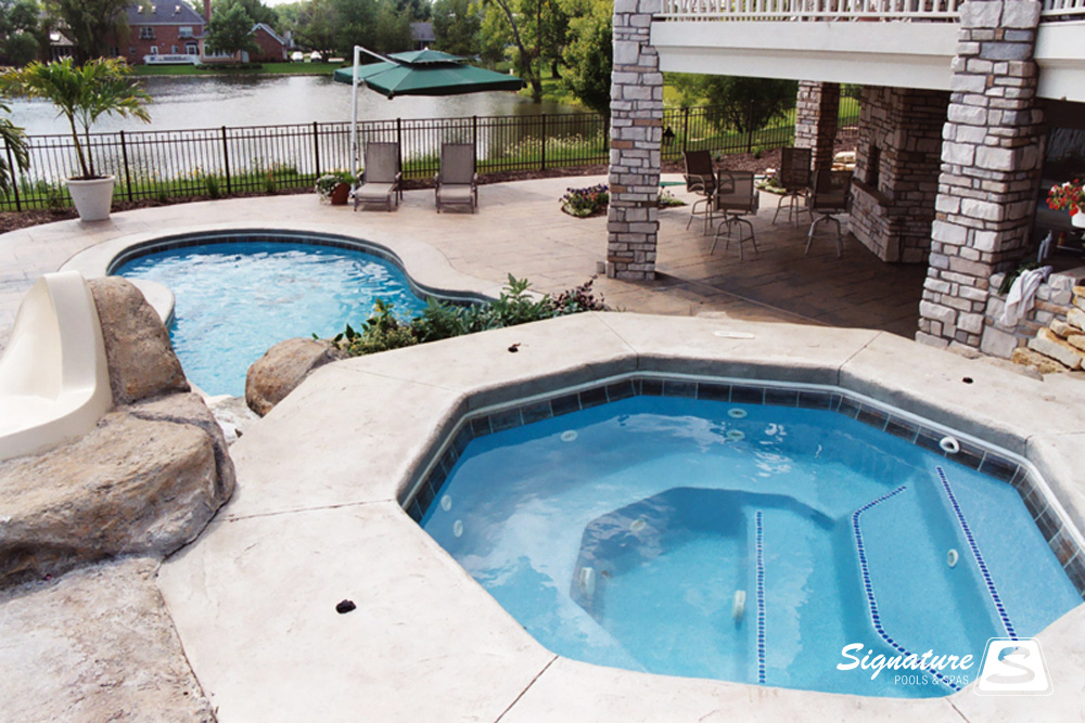 Spa gallery signature fiberglass pools chicago swimming - How long after you shock a pool can you swim ...