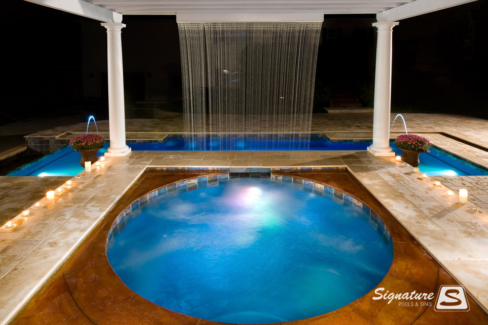 Spa Gallery Signature Fiberglass Pools Chicago Swimming