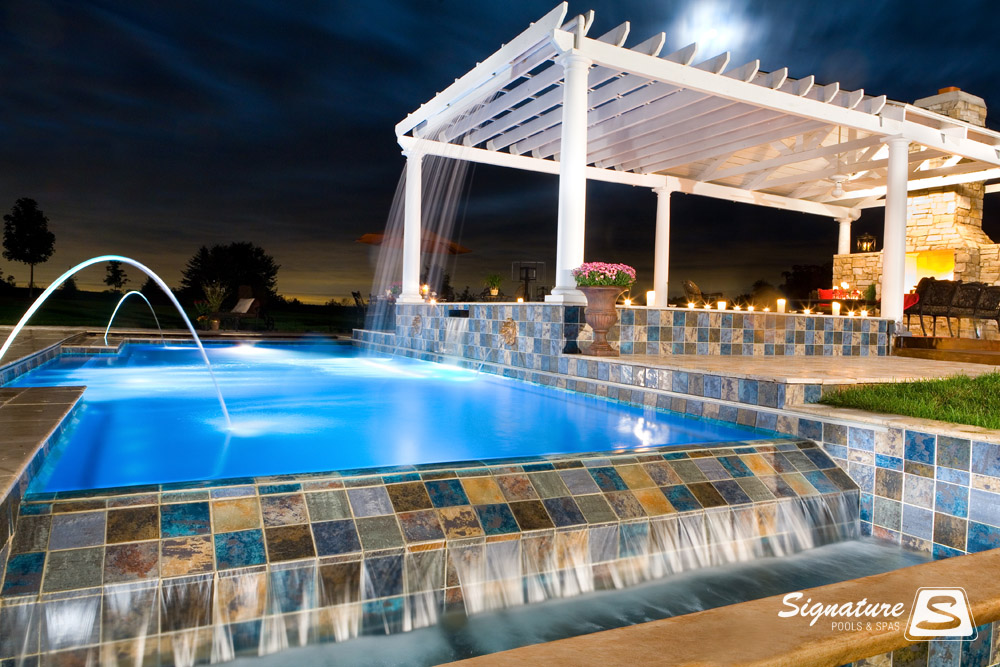 Water Feature Picture Gallery Signature Fiberglass Pools