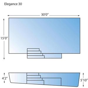 Elegance 30 Line Drawing