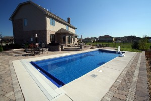 Signature Pools - Grand Elegance model pool from Leisure Pools built in Lemont, IL