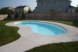 Signature Pools - 16' x 32' Aloha Montego model in white finish built in Geneva, IL