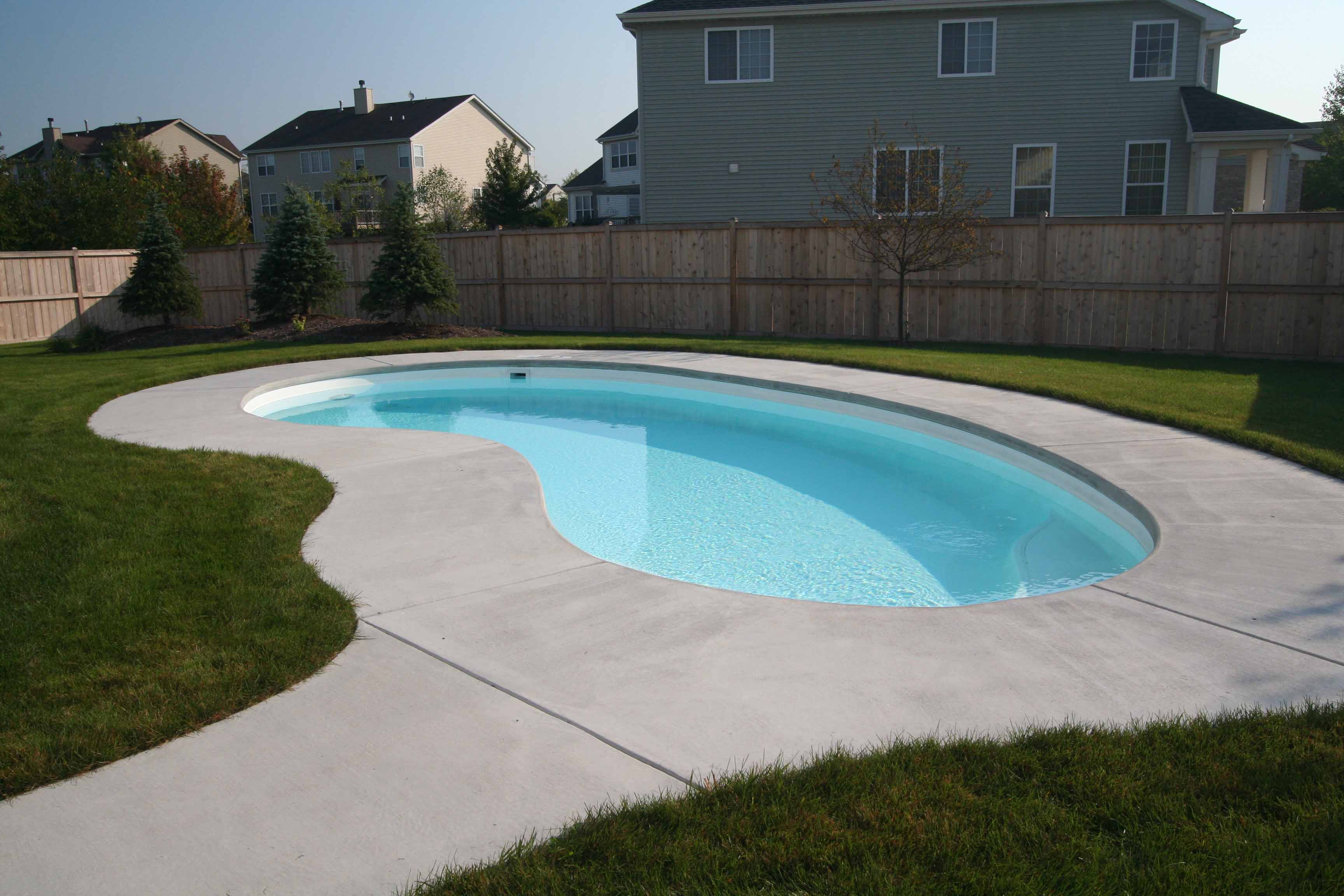 Fiberglass Swimming Pool Designs fiberglass pools pittsburgh pa Signature Pools 16 X 32 Aloha Montego Model In White Finish Built In
