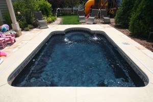 Signature Pools Roman 19 in Outback Blue color in Vernon Hills,IL