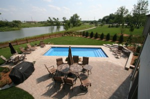 Signature Pools 33' x 14' pool in Oswego Illinois