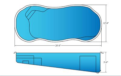 VistaIslePool Blue Hawaiian Fiberglass Pools
