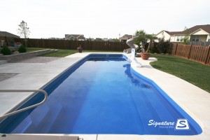 Moroccan 38 inground fiberglass pool