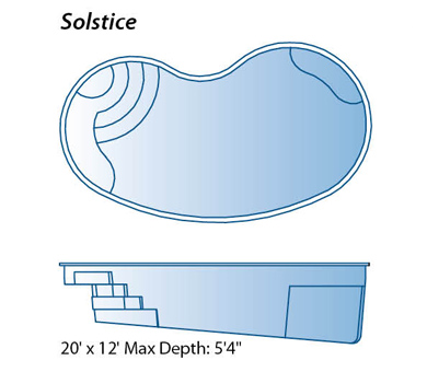 Solstice model pool from trilogy pools signature for Swimming pool drawing