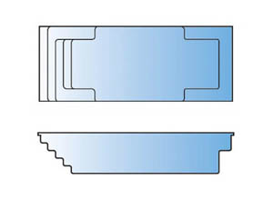 Palladium Plunge Pool_Line Drawing - Leisure Pools